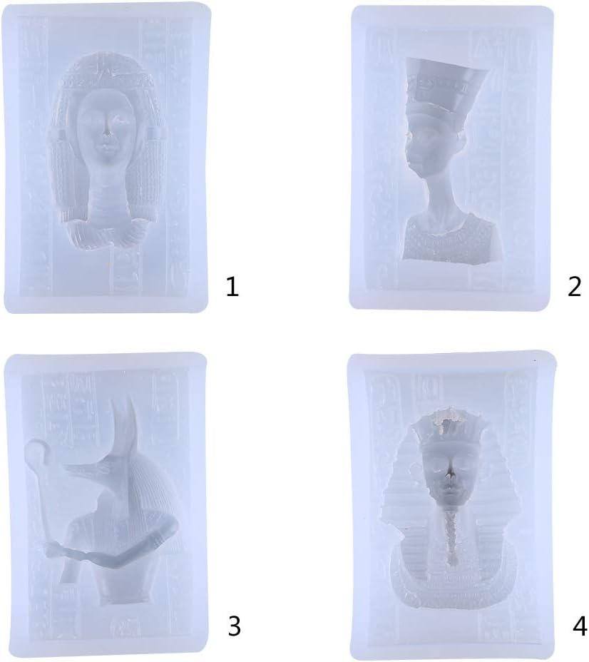 Koobysix Silikonform Gie/ßformen /Ägyptischer Pharao Kopf Portr/ät Silikonform DIY Craft Anh/änger Formen UV-Epoxidharz Fondantform
