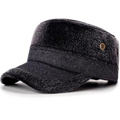 moda la Gorro invierno de felpa Gorra ZHAS Grey de IA4qt6A