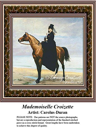 (Fine Art Counted Cross Stitch Patterns | Mademoiselle Croizette (Pattern Only, You Provide the Floss and)