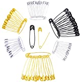 #7: Pllieay 720 Pieces 4 Colors 6 Sizes Safety Pins Sewing Accessories for Knitting, Quilting, Baby Clothing and Arts Crafts