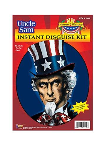 55620/208 Uncle Sam Hat & Beard Kit