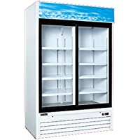 2 Glass Door 8 Shelves Refrigerator G1.2YM2F Slide NSF
