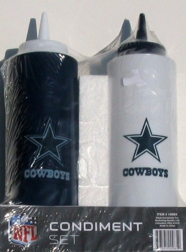 NFL Dallas Cowboys Condiment Set (2-Piece), 12-Ounce, Multi-Color