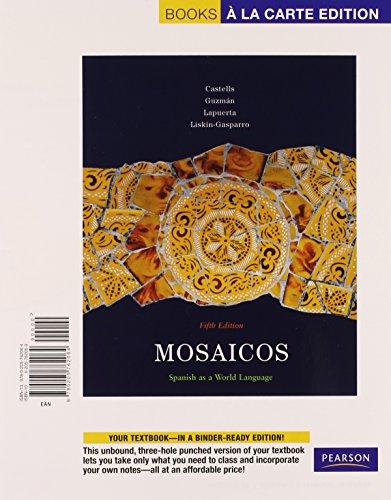 Mosaicos: Spanish as a World Language, Books a la Carte Plus MySpanishLab (multi-semester access) (5th Edition)