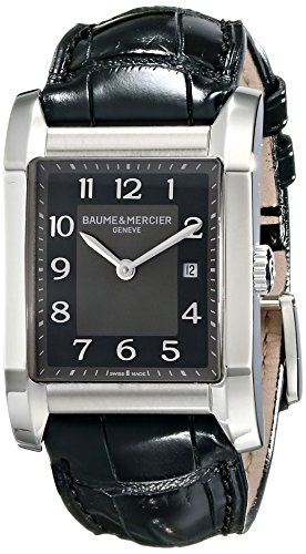 Baume Mercier Women's 10019 Hampton Ladies Black Leather Strap Watch