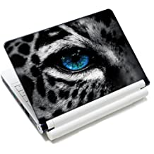 15 15.6 inch Laptop Notebook Vinyl Skin Sticker Protector Cover Art Decal for Apple MacBook Pro 15/New Macbook Pro Retina/HP Pavilion ENVY 15/HP Pavilion dv6 g6 series/Dell inspiron/Sony VAIO/Samsung ATIV Book/Acer Aspire/LENOVO ideapad IBM/Toshiba Satellite(Included 2 Wrist Pad) - Leopard Eye