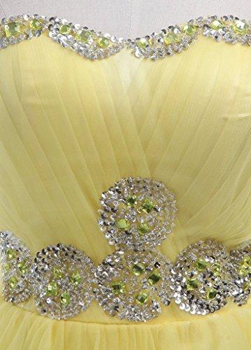 Damen A Kleid Linie Gelb Drasawee 4fdWqfA