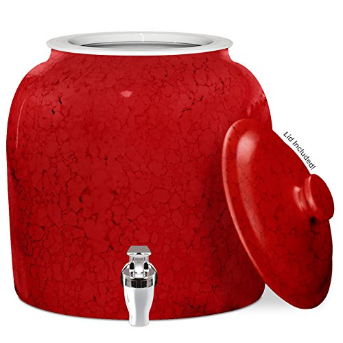Compare Price To Red Ceramic Beverage Dispenser