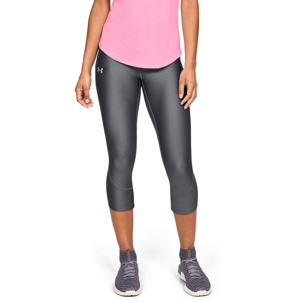 Under Armour Women's Armour Fly Fast Capris, Pitch Gray//Reflective, Medium by Under Armour