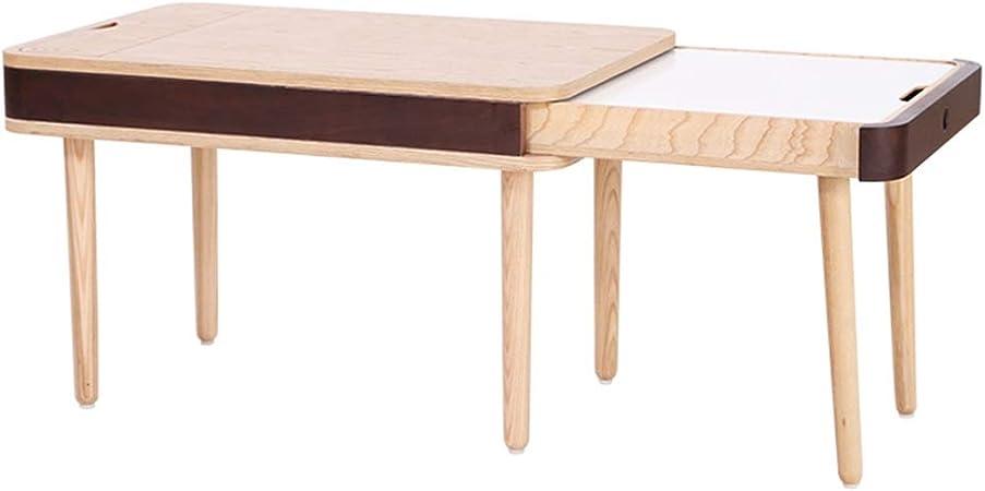 Juegos de mesas y sillas Mesa para Niños Mesa De Aprendizaje Multifunción Mesa De Juego De Madera Maciza De Dibujos Animados Mesa De Lona De Doble Cara para Jardín De Infantes: Amazon.es: