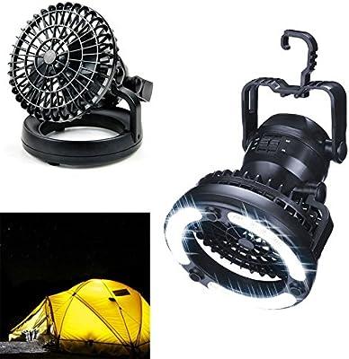 letaowl - Lámpara de Camping con Ventilador y 18 Luces LED y ...