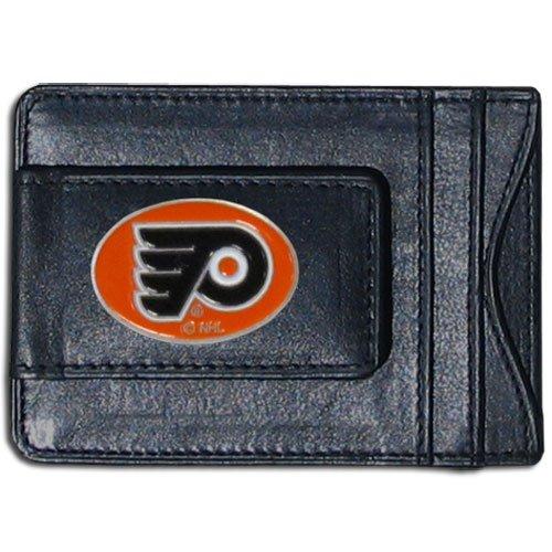NHL Philadelphia Flyers Genuine Leather Cash and Cardholder