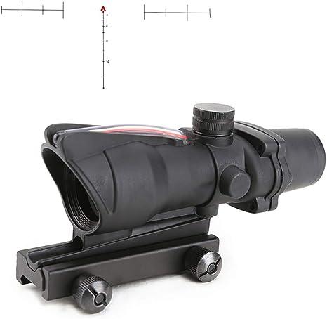 Riflescope De Caza Spina Optics 4 X 32 Rojo Verde Iluminado Fibra óptica Mira Chevron Retículo Táctico Para Rifle Calibre 223 308 Rojo Chevron Iluminado Sports Outdoors Amazon Com