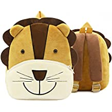 New Toddler's Backpack,Toddler's Mini School Bags Cartoon Cute Animal Plush Backpack for Kids Age 1-4 Years