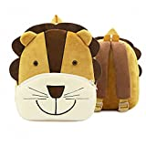 Toddler's Backpack,Toddler's Mini School Bags Cartoon Cute Animal Plush Backpack for Kids Age 1-4 Years,Lion