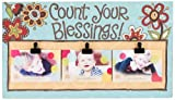 Glory Haus Count Your Blessings Clip Canvas Picture Frame, 11 by 20-Inch