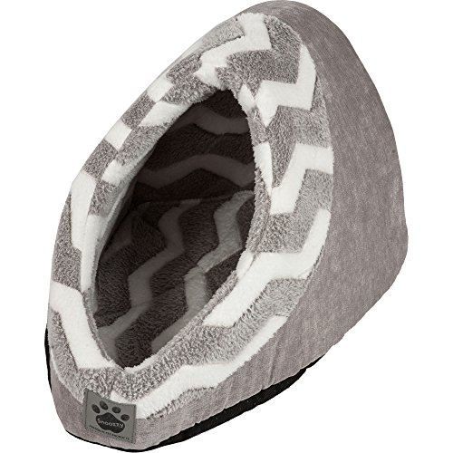 Precision Pet SnooZZy Hip as a Zig Zag Hide and Seek Bed, Gray and White