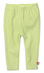 Zutano Unisex Baby Candy Stripe Skinny Leggings (Baby) - Lime - 18 Months