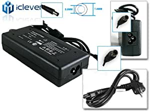 iClever ® 90W Adaptador de corriente AC Cable de alimentación Cargador para Laptop Dell Latitude E5420 E5520 E6250 E6320 E6420 E6520, Dell XPS X15l X15z X17l [19.5V 4.62A]