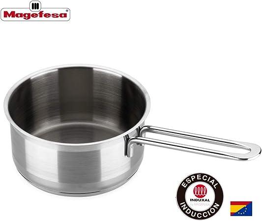 MAGEFESA MILENIUM – La Familia de Productos MAGEFESA MILENIUM está Fabricada en Acero Inoxidable 18/10, Compatible con Todo Tipo de Cocina. Fácil Limpieza y Apta lavavajillas (CAZO, 14_cm): Amazon.es: Hogar