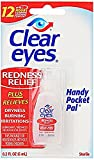 Clear Eyes Redness Relief Handy Pocket Pal - 0.2 Oz, Single Pack