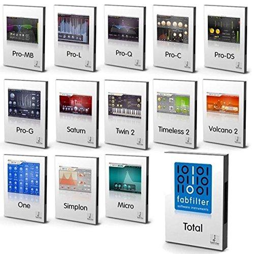 FabFilter TOTAL Mac PC Efx & Mastering Bundle.
