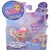 Littlest Pet Shop Fairies, Shimmering Sky, Rain Prism Fairy 2712 and Bat 2713