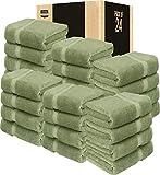 Utopia Towels 24 Pack Premium Bath Towels Bulk (27 x 54 inches Towel Set Bulk), Sage Green