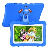 【UPGRADED】 TUFEN Best Tablet for Kids, 7'' HD Display with Silicone Bumper (1GB RAM + 8GB ROM, Android 6.0, Playstore, Youtube, Netflix, PARENT-CONTROL IWAWA, Wifi Offline) (Q768 Blue)