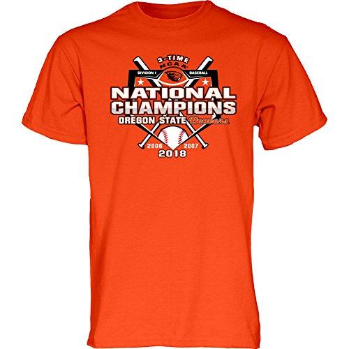 Tee Series College World - Elite Fan Shop Oregon State Beavers Baseball Champs Tshirt Orange 2018 College World Series/CWS Base - XL