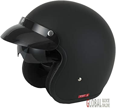 S Vcan V537 Open Face Scocter Motorcycle Motorbike Helmet Matt Black 55-56cm