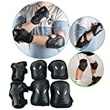 Enshey 3 In 1 Protective Gear Kids Safety Pad Knee Pads Elbow Pads Wrist Guards Sports Protective Gear for Skateboard Roller Skates Mountain Bike Outdoor Sports