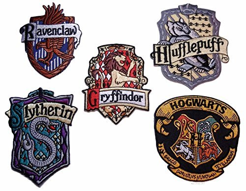 Harry Potter Set of 5 BRITISH LOGO Embroidered PATCHES