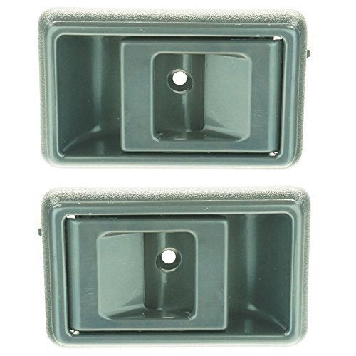 Gray Inner Interior Inside Door Handle Pair Set for Toyota Corolla Pickup Truck (00 Toyota Tacoma Pickup)