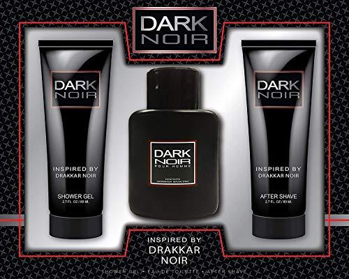Watermark Beauty Dark Noir Men 3 Piece Fragrance Set for Men, Includes 1.7 Oz Eau De Toilette, 2.7 Oz After Shave, and 2.7 Oz Shower Gel