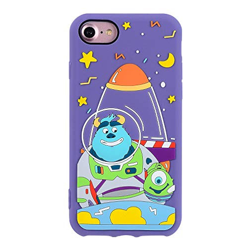 Astronaut Monster Case for iPhone 6 /iPhone 6S,3D Cartoon Animal Character Design Cute Soft Silicone Rubber Funny Kawaii Cover,Animated Fashion Cool Skin Cases for Kids Boys Teens Girls (iPhone6 /6S)