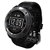 UW80 Smart Watch GPS Positioning Heart Rate Monitor Navigation Altimeter Air Temperature Pedometer IP68 waterproof Caller ID SMS Reminder Weather Sleep Information (light black)