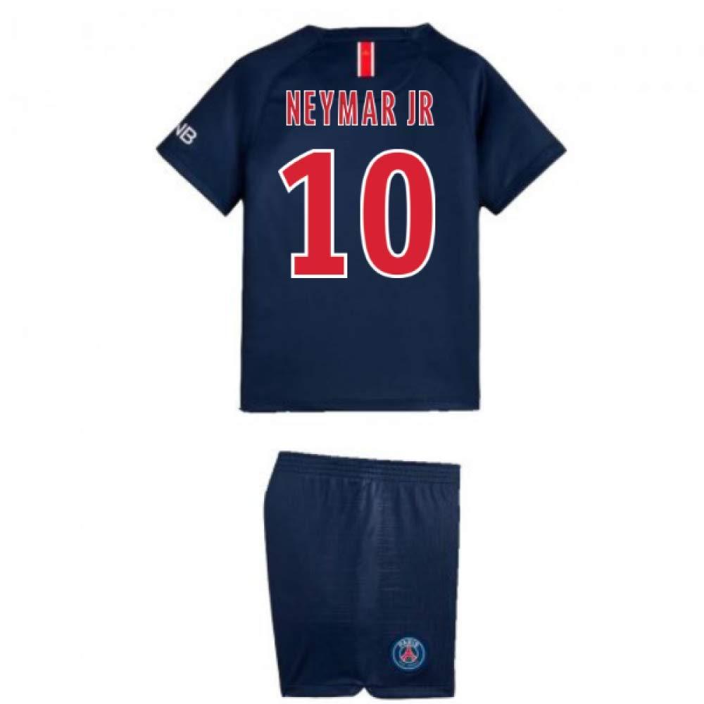 UKSoccershop 2018-2019 PSG Home Nike Little Boys Mini Kit (Neymar Jr 10)