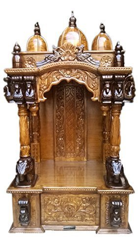 Buy Wooden Temple Designer Mandir Home Temple Pooja Cabinet