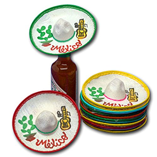 Mini Mexico Sombreros (Dozen) by (Amols Fiesta Party Supplies)