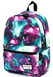 TRENDYMAX Galaxy Backpack Cute for School | 42x30x16cm | Holds 15-inch Laptop | Green