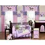 Sweet-Jojo-Designs-Pretty-Pony-Horse-Long-Front-Rail-Guard-Baby-Teething-Cover-Crib-Protector-Wrap