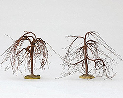 Lemax Spooky Town Village 6'' Winter Willow Tree 2-Piece Set #14572 by Lemax