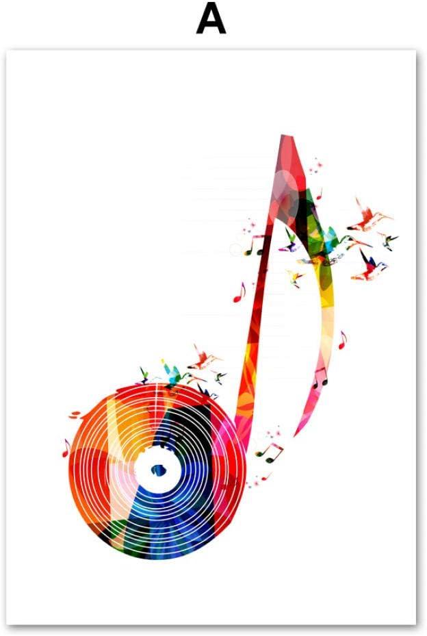 Abstract Music Girl Cello Tree Nordic Poster and Print Wall Art Canvas Painting Cuadros de Pared para Sala de Estar Dormitorio Decoración para el hogar 50X70cm Sin Marco A