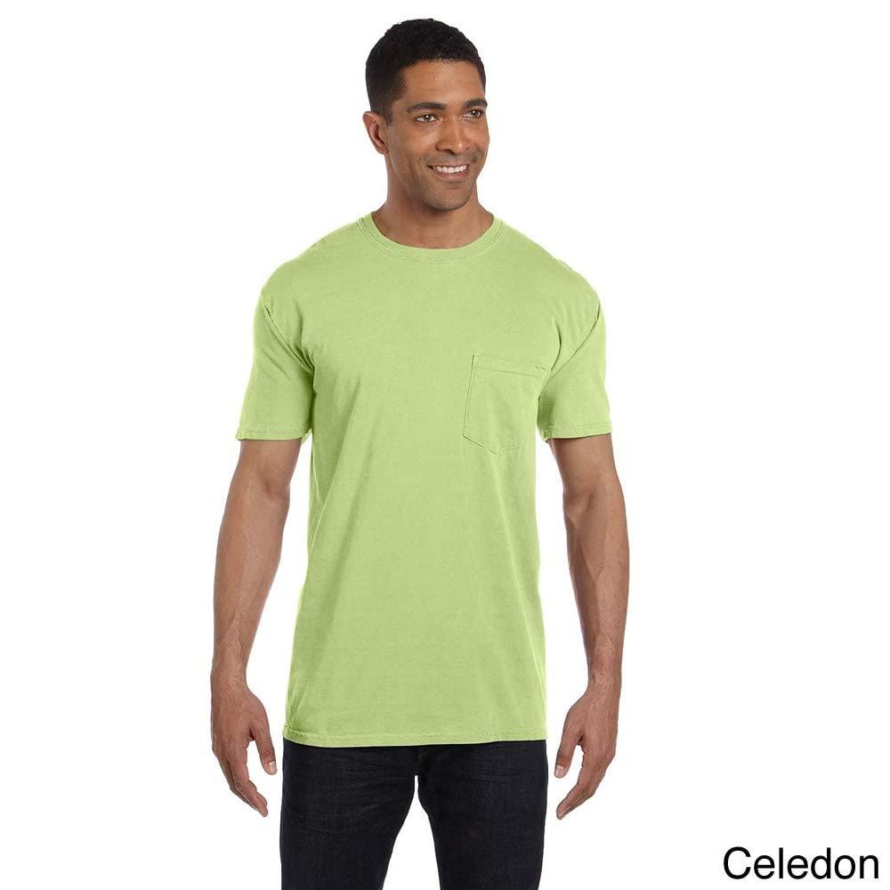 Comfort Colors 6.1-Ounce Garment-Dyed Pocket T-Shirt Blue XXL