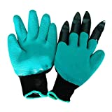 Meanch Unisex Gardening Gloves with Fingertips Claws Quick