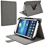 NuVur ™ Durable Universal 8 inch Rotating Tablet Case Fits Lenovo ideapad MIIX 300, LePad S2007, Tab 2 A8-50, Tab S8, Phab Plus|Charcoal