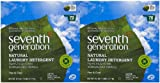 Seventh Generation Natural Powder Laundry Detergent - 112 oz - Free & Clear - 2 pk
