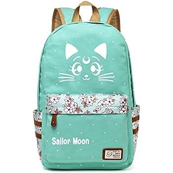 Siawasey Anime Sailor Moon Bookbag Backpack School Bag
