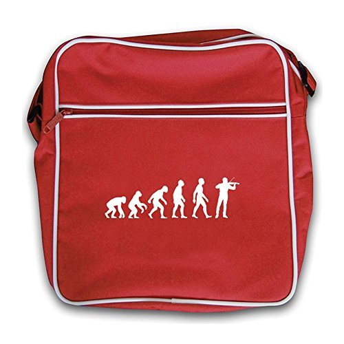 Red Red Evolution Man Flight Retro Violinist Evolution of Bag of PwfRwqgT
